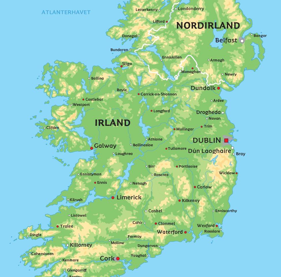 kort over hovedstaden