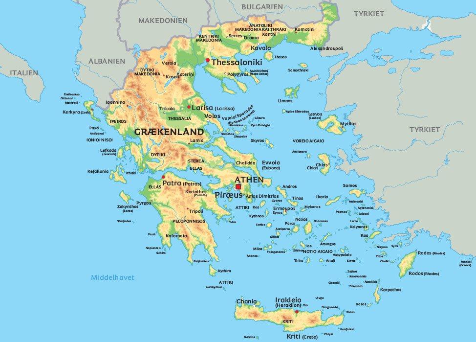 Kort Over Grækenland | Kort hanz