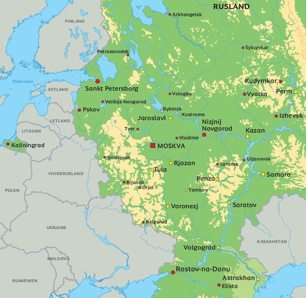 kort rusland